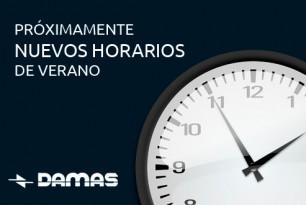 CAMBIO DE HORARIOS DE VERANO