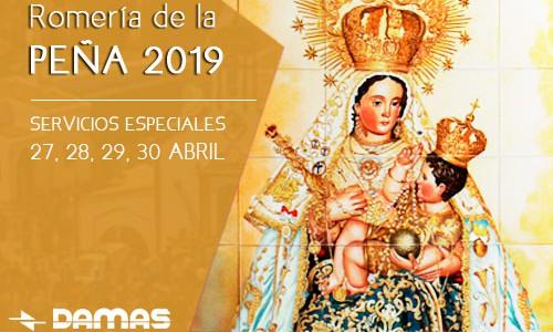 HORARIOS ESPECIALES ROMERÍA DE LA PEÑA 2019