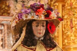 Traslado de la Virgen de El Rocío a Almonte