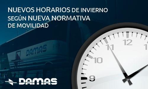 Nuevos horarios  según nueva Normativa Nov. de movilidad